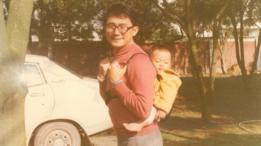Foto de Chang Hsien-yi en los años 80 en Taiwán