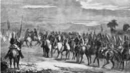 Ilustración de Napoleón IIII en campaña