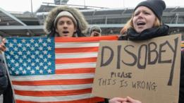 Manifestantes en Nueva York
