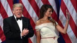 الرئيس الأمريكي، دونالد ترامب رفقة زوجته
