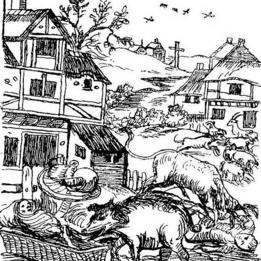 Ilustración del libro de E.P. Evans The Criminal Prosecution and Capital Punishment of Animals