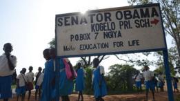 Niños de la escuela de Senador Obama