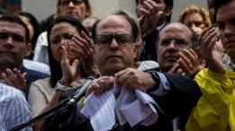 El presidente del parlamento venezolano, Julio Borges