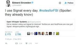 Tuit de Edward Snowden