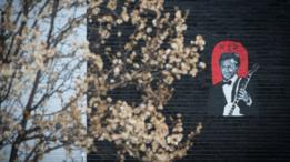 Mural en honor a Chuck Berry.