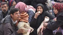 نازحون سوريون من حلب