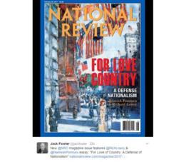 La tapa de la revista National Review: