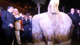 تمثال ضخم اكتشف حديثا في القاهرة