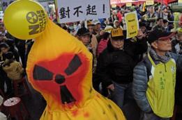 Protestas contra la energía nuclear en Taiwán