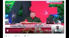 Diosdado Cabello hablando por televisión.