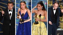Leonardo DiCaprio, Brie Larson, Alicia Vikander, Mark Rylance en los Oscar 2016