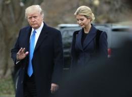 El presidente de EE.UU., Donald Trump, y su hija Ivanka Trump.