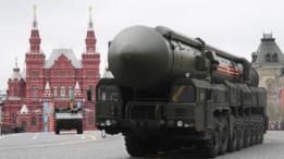 Los misiles balísticos intercontinentales rusos Yars RS-24 equipados con ojivas MIRV termonucleares.