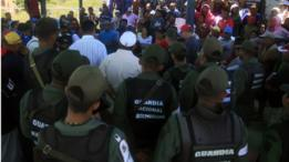 Protesta de vecinos en la Isla de Toas