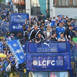 Celebración del Leicester