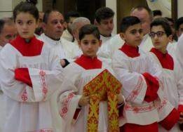 Altar boys and girls at the mass