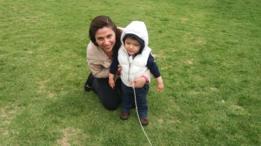 Nadia Ortiz y su hijo Alek