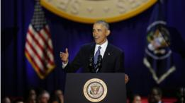 أوباما يلقي خطاب الوداع في شيكاغو