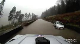'Dashcam' footage, Langdale Ambleside Mountain Rescue