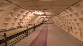 Tunnel beneath Clapham South Tube station
