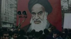 Portrait of Khomeini