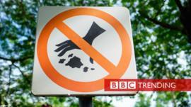 Anti-litter sign.