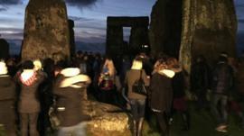 Visitors at Stonehenge