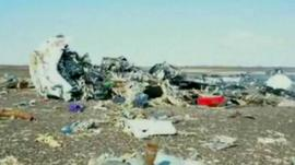Still from video of crash site, released by Egyptian government