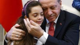 Bana Alabed and Turkish President Recep Tayyip Erdogan