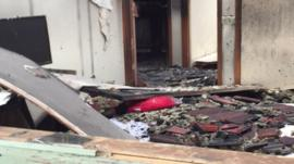 Damage caused to house following hoverboard fire