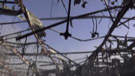 Damage after Sanaa air strike