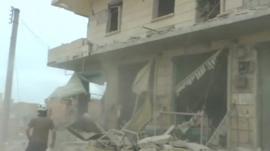 Destroyed building in Aleppo