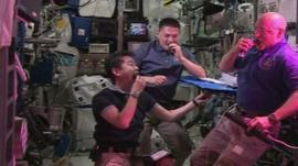 ISS astronauts try space-grown lettuce