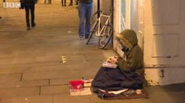 Homeless person Oxford