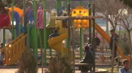 Playground inside camp