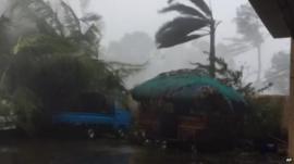 Typhoon winds