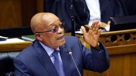 Jacob Zuma in Parliament