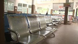 An empty waiting room