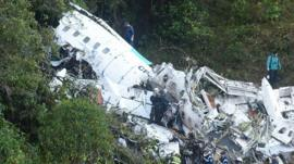 Plane that was carrying the Chapecoense football team