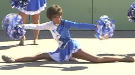 Sun City cheerleader