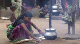 Woman with cookstove