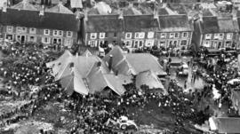 The disaster scene at Aberfan