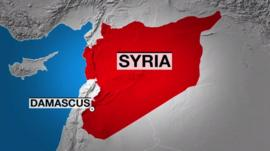 Syria map graphic