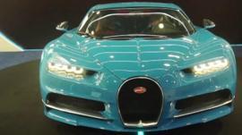 Light blue Bugatti Chiron