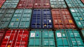 shipping containers stacked up