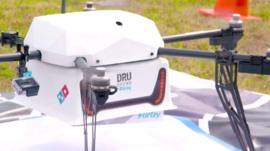 A drone which can deliver pizza