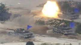 South Korean tanks
