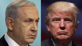 Benjamin Netanyahu and Donald Trump composite