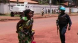 UN peacekeepers in Bangui, Central African Republic