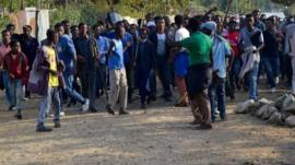 Protesters from the Oromo group in December 2015